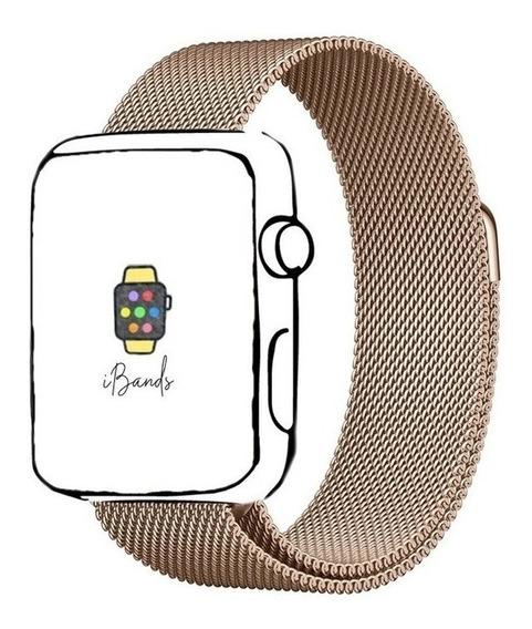 Pulseira Ibands Aço Magnético Milanese Loop Para Apple Watch