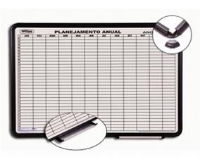 Quadro Branco Magnetico Planejamento Anual Aluminio 120x90
