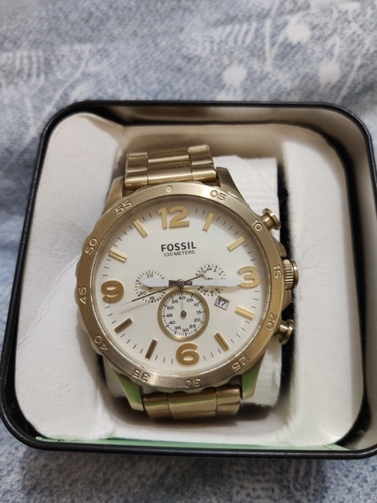 Relógio Fóssil Dourado