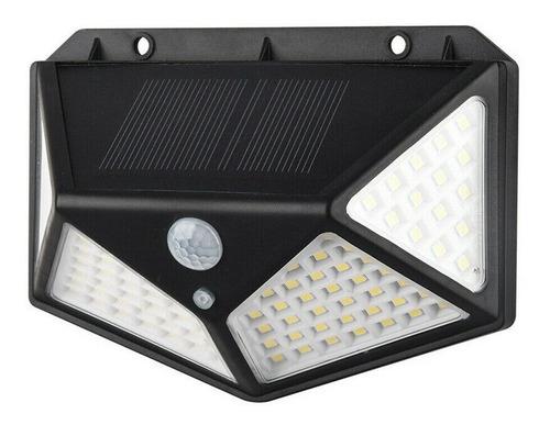 Lámpara Solar 100 Led X1 Sensor De Movimiento Exteriores