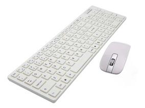 Kit Teclado + Mouse Wireless S/ Fio 3200dpi Tv Smart 2.4ghz