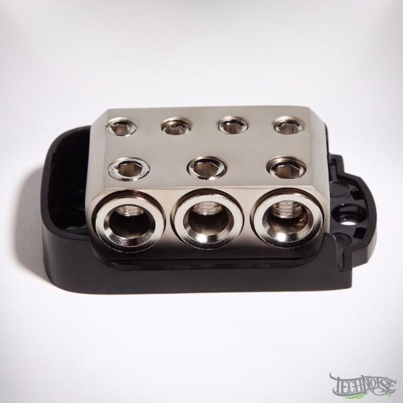Kit 2 Bloco Distribuidor/barramento 4 Vias Technoise -níquel