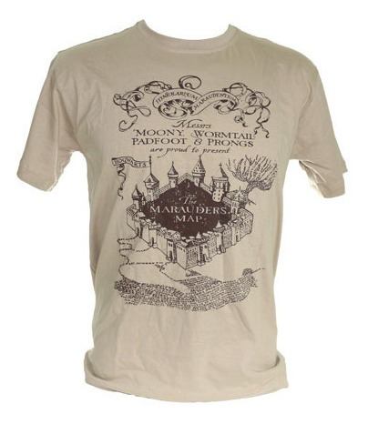 Camiseta Mapa Do Maroto Harry Potter
