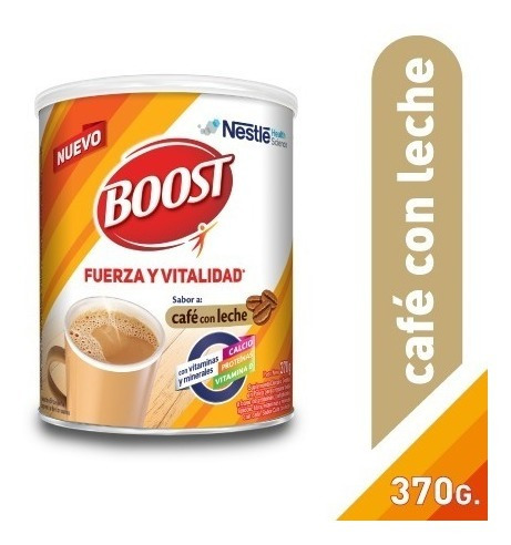 Suplemento Nutricional Boost Café Con Leche Lata 370g Nestlé