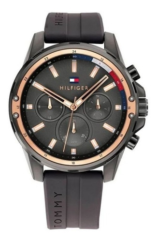 Reloj Tommy Hilfiger Hombre Deportivo Negro 1791792
