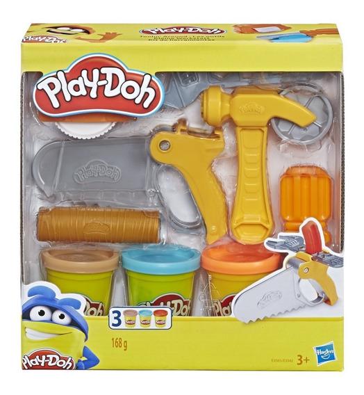 Play Doh Conjunto Ferramentas De Construção Hasbro