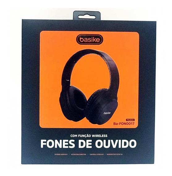 Fone Bluetooth Grande Fone Ouvido Basike Original 0017