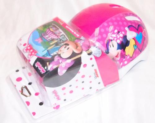 Set De Casco Y Protección Minnie Original Disney