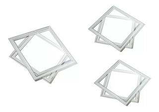 Moldura Do Alçapão Em Alumínio Drywall Branco 50 X 50 Cm