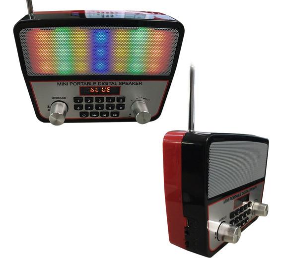 Mini Caixa Som Portátil Ws-1813 Bluetooth Usb Mp3 Radio Fm