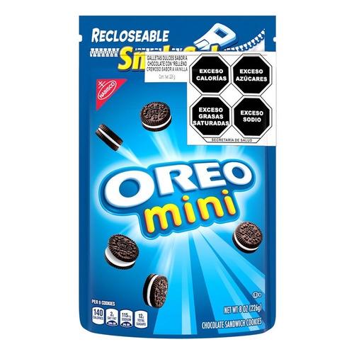 Imagen 1 de 1 de Galletita OREO Mini de chocolate y vainilla 226g