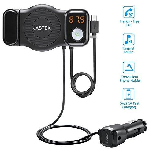 Jastek Fm Transmisor Bluetooth Receptor Y Teléfono De Coche