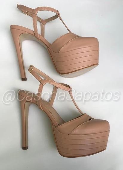 Sapato Casoria Meia Pata Salto 15cm Inspiração Gucci