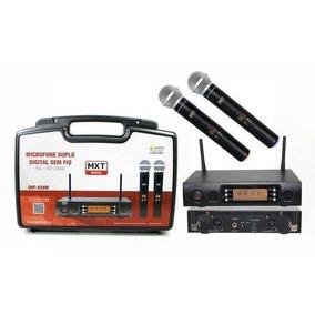 Microfone Sem Fio Digital Com 100 Canais 100 M Uhf-628m Mxt
