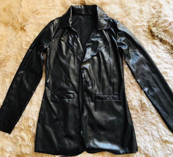 Blusa De Frio Feminina - Blazer Preto De Napo Mais Comprido