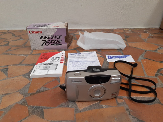 Câmera Analógica Máquina Fotográfica Canon Prima Zoom 76