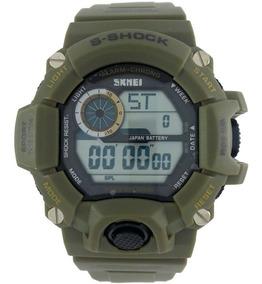 Relógio Masculino Esportivo Skmei Aprova Dágua Verde Militar