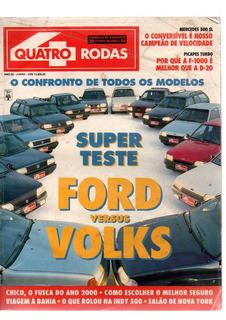 Quatro Rodas Super Teste Ford Versus Volks 1992
