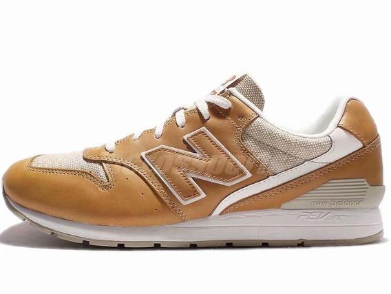 Nuevo Equilibrio Hombres Cuero Correr Zapatos Amarillo Blanc