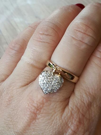 Anel Pingente Ouro18k E Diamantes 6,5g(tenho Vivara)