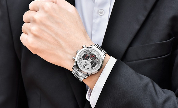 Relógio Pulso - Benyar Multifução 46mm - Vidro Hardlex