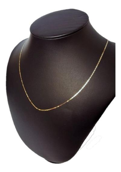 Correntinha De Ouro 18k 0.750 Masculina Piastrine 60cm