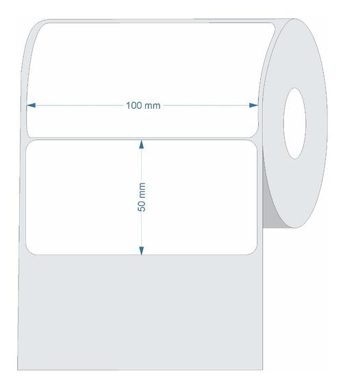 Etiqueta Couche Adesiva 100x50 (mm) 10x5 Cm Branca