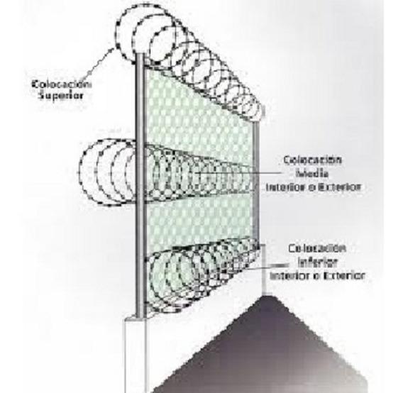 Concertina Cruzadas De 45cm, Venta Y Colocacion 100% Calif +
