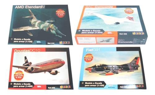 9 Maquetas Para Armar De Aviones Modelex + 2 Pegamentos