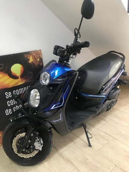 Yamaha Bws 125 Negra Con Azul