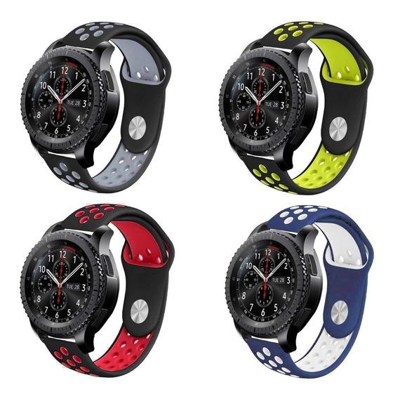 Kit 4 Pulseiras Samsung Galaxy Watch 46mm E Gear S3 Silicone