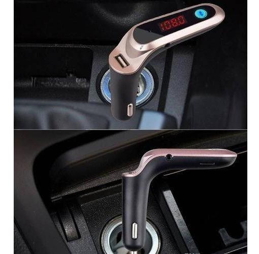 Transmissor Luxo S7 Carg7 Bluetooth Carregador Veicular