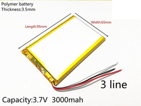 Bateria Tablet Foston Fs-m3g796 Gt 3 Fios 3000 Mah