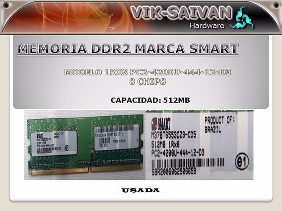 Memoria Ddr2 Smart 512mb Pc2-4200 533mhz 8 Chips 22