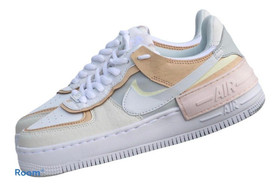air force 1 mujer blanco y rosa