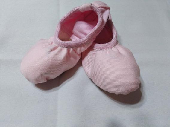 Zapatillas Danza Cuero Y Lycra Negra Rosa Y Hueso