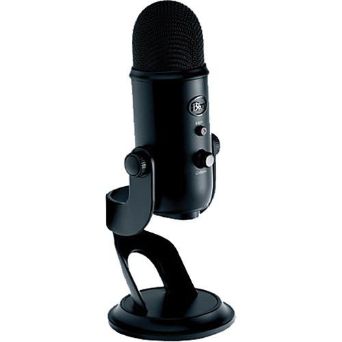 Microfone Usb Blue Yeti Blackout Edition Profissional Novo