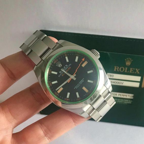 Rolex Milgauss Safira Verde Completo