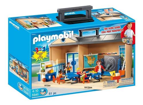Playmobil Maletin Colegio Escuela 5941 City Life Ink Educand