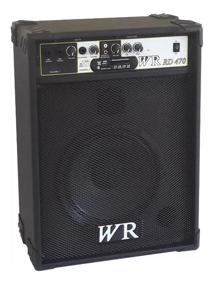 Caixa De Som Amplificada Teclado/guitarra/violão 60w Rms