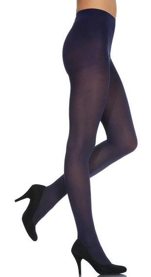 Medias Panty Azul Marino De Dama Marca Delux