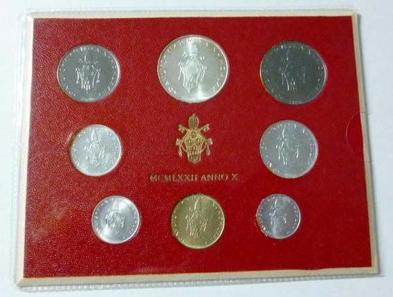 Vaticano Set X 8 Monedas En Blister 1972 Unc Pablo Vl