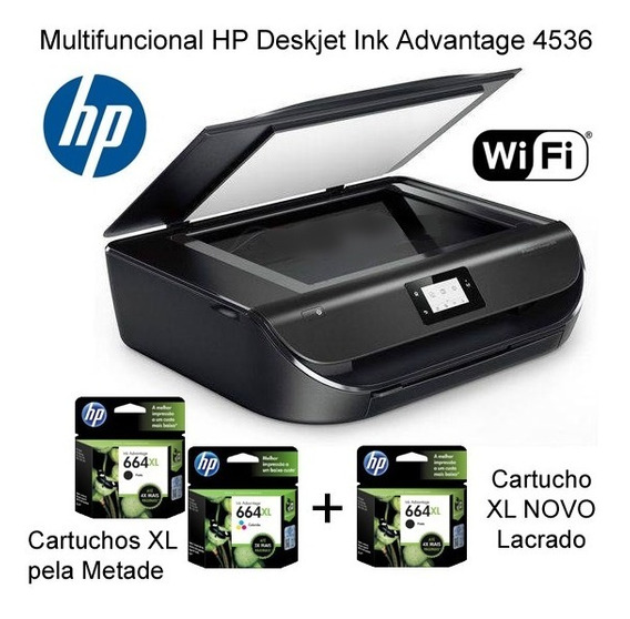 Impressora Multifuncional Hp Deskjet Ink Advantage 4536 Na Embalagem Original Em Ótimo Estado