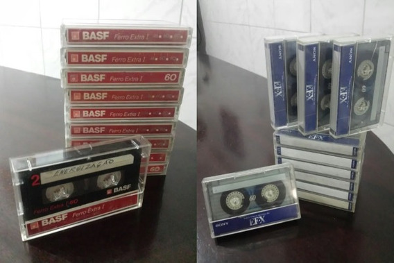 Lote 50 Fitas Basf / Sony Grandes Marcas