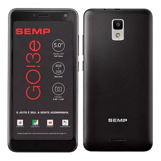 Semp Go 3e Rede3g 5pol 8gb 1 Ghz Cams 5+8 Mpx Whatsapp Jogos