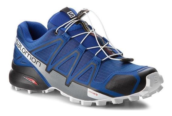 Zapatillas Salomon Speedcross 4 Azul/gr - Corner Deportes