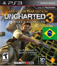 Uncharted 3 Psn Ps3 Dublado Edição Do Ano