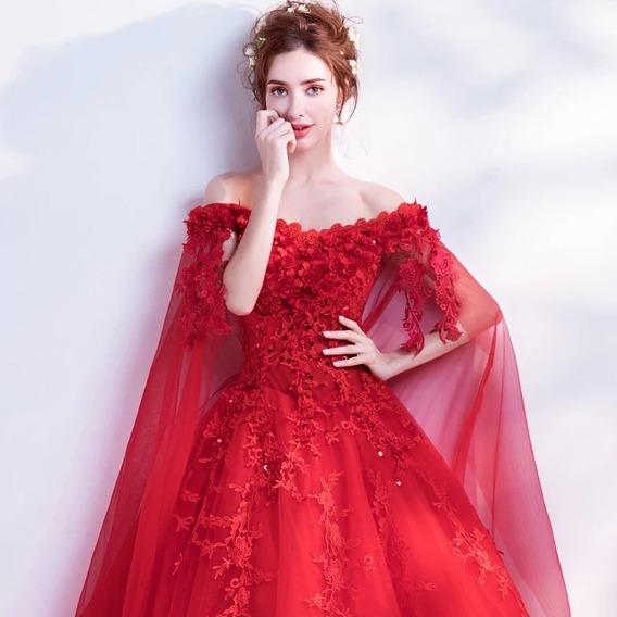 Vestido Xv Años Rojo O Blanco Envió Gratis ! E-180815003