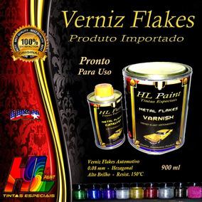 Verniz Flakes Fino Importado Alto Brilho Pronto P/ Uso 900ml