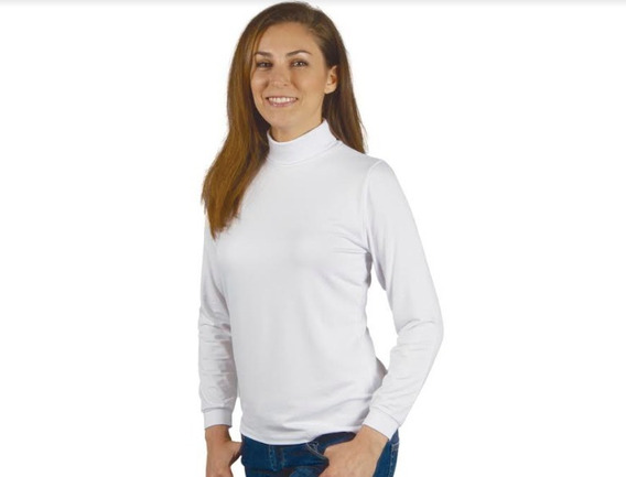 Camiseta Polera Florincella Manga Larga Algodón Mujer Art151